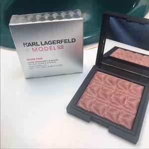 💋Karl Lagerfeld Highlighter NIB Nude Pink